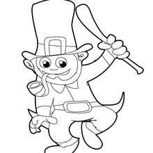 Dibujo del duende leprechaun del día de San Patricio - Dibujos para Colorear y Pintar - Dibujos para colorear FIESTAS - Dibujos para colorear SAN PATRICIO