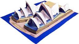 Australia: Ópera de Sidney 3D - Manualidades para niños - Papiroflexia facil - Papiroflexia EDIFICIOS DEL MUNDO