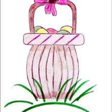 Aprender a dibujar : Cesta de Huevos de Pascua