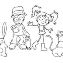 Dibujo para colorear : Clara y sus amigos
