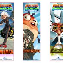 Manualidad infantil : Marcapáginas: Ginormica, Insectosaurus y Dr Cucaracha