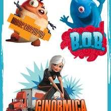 Pegatinas BOB e Insectosaurus - Manualidades para niños - Manualidades infantiles - Pegatinas de Monstruos contra Alienígenas