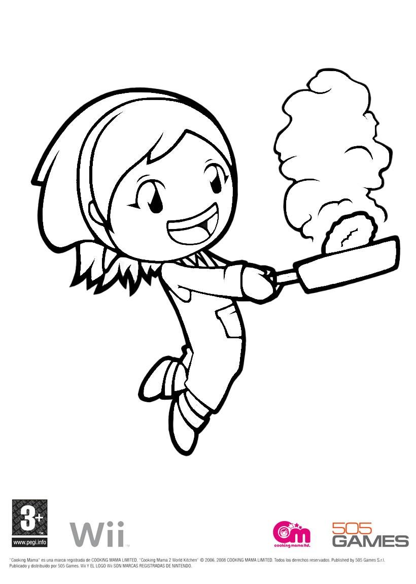Dibujos para colorear cooking mama 4 - es.hellokids.com