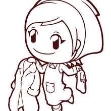 Dibujo Gardening Mama 1 - Dibujos para Colorear y Pintar - Dibujos para colorear PERSONAJES - Dibujos para colorear y pintar PERSONAJES - COOKING MAMA WORLD para colorear - GARDENING MAMA Nintendo: Dibujos para colorear