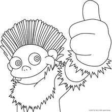 Dibujo de Lucho contento - Dibujos para Colorear y Pintar - Dibujos para colorear PERSONAJES - PERSONAJES TV para colorear - Los Lunnis: Dibujos para colorear