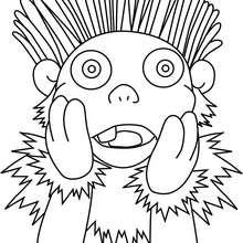 Dibujo de Lucho sorprendido - Dibujos para Colorear y Pintar - Dibujos para colorear PERSONAJES - PERSONAJES TV para colorear - Los Lunnis: Dibujos para colorear
