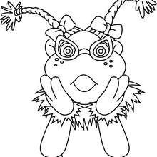 Dibujo de Lupita sorprendida - Dibujos para Colorear y Pintar - Dibujos para colorear PERSONAJES - PERSONAJES TV para colorear - Los Lunnis: Dibujos para colorear