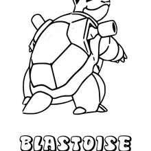 Dibujo Blastoise - Dibujos para Colorear y Pintar - Dibujos para colorear MANGA - Dibujos para colorear POKEMON - Dibujos para colorear POKEMON AGUA