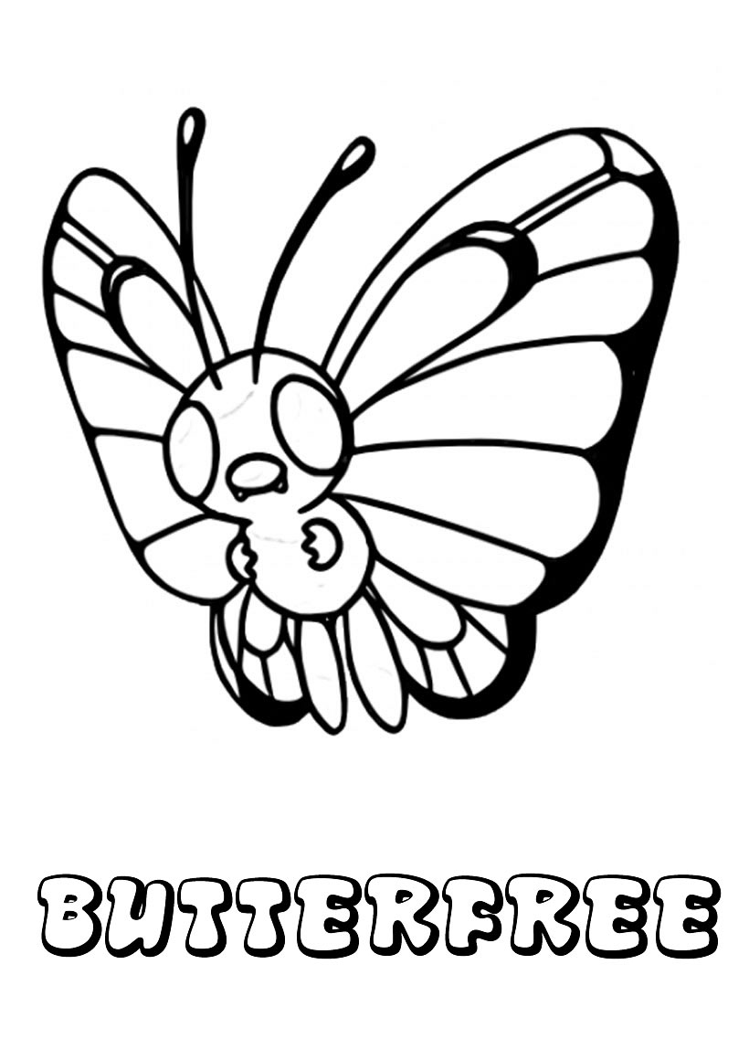 pokemon butter free coloring pages - photo#17