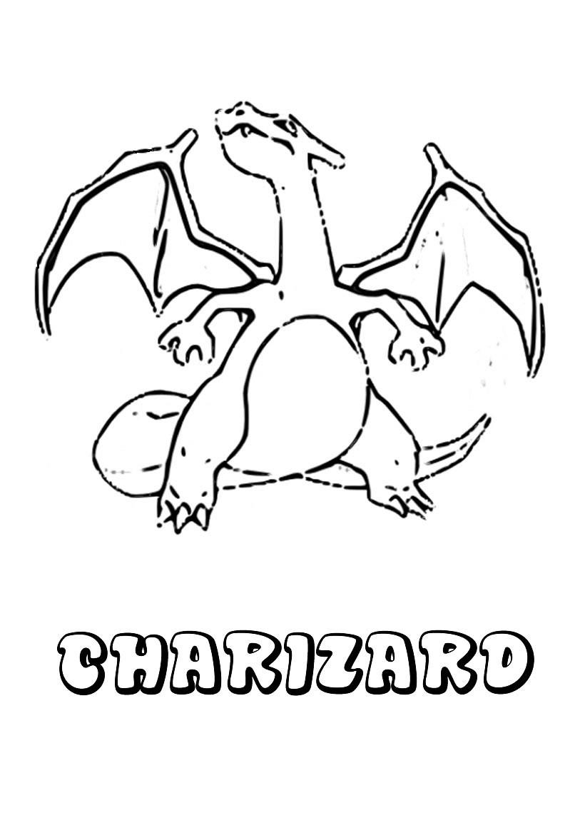 Dibujos para colorear pokemon charizard - es.hellokids.com