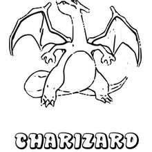 Dibujo Pokemon Charizard - Dibujos para Colorear y Pintar - Dibujos para colorear MANGA - Dibujos para colorear POKEMON - Dibujos para colorear POKEMON FUEGO