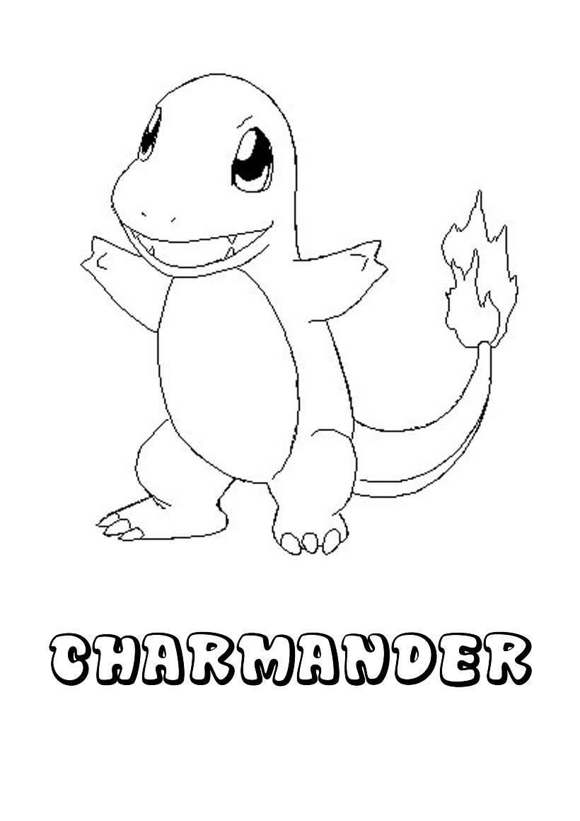 Dibujos para colorear pokemon charmander - es.hellokids.com