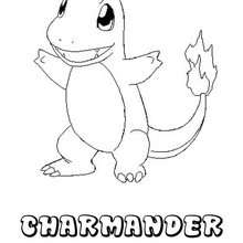 Dibujo para colorear : Pokemon Charmander