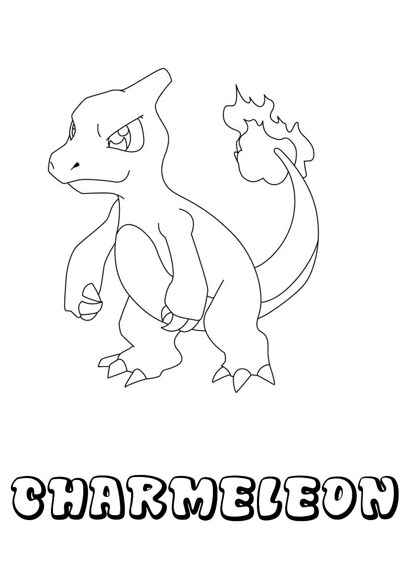Dibujos para colorear pokemon charmeleon  eshellokidscom