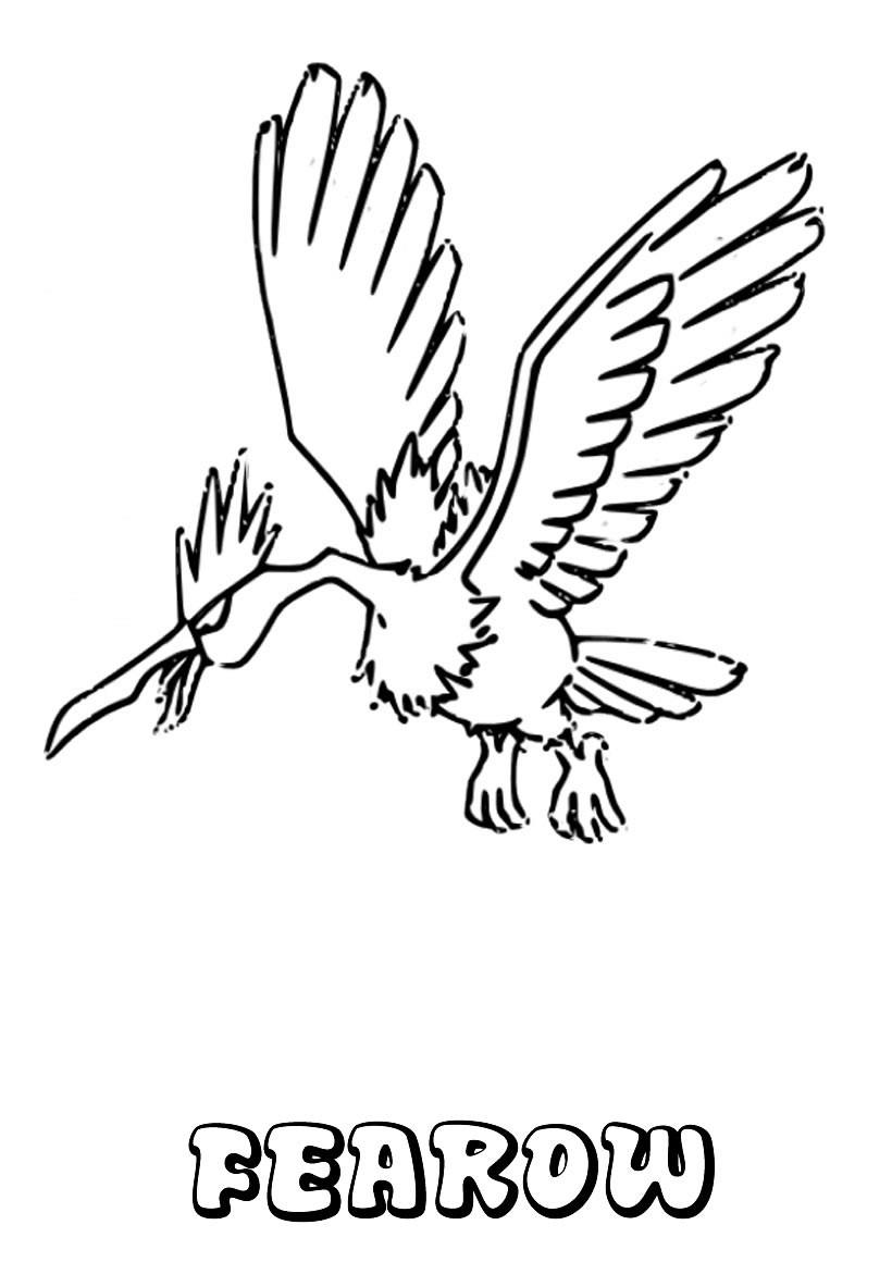 Dibujos para colorear fearow - es.hellokids.com