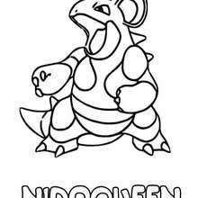 Dibujo Nidoqueen - Dibujos para Colorear y Pintar - Dibujos para colorear MANGA - Dibujos para colorear POKEMON - Dibujos para colorear POKEMON VENENO