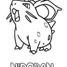 Dibujo Nidoran (hembra) - Dibujos para Colorear y Pintar - Dibujos para colorear MANGA - Dibujos para colorear POKEMON - Dibujos para colorear POKEMON VENENO