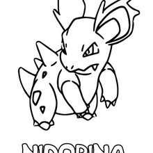 Dibujo para colorear : Nidorina