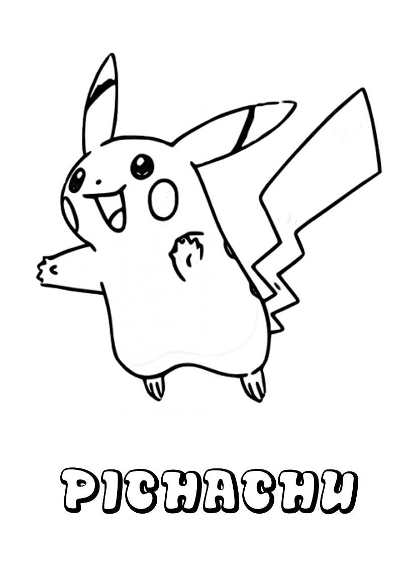 Dibujo para colorear : Pichachu