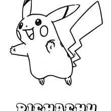 Dibujo Pichachu - Dibujos para Colorear y Pintar - Dibujos para colorear MANGA - Dibujos para colorear POKEMON - Dibujos para colorear POKEMON ELECTRICO