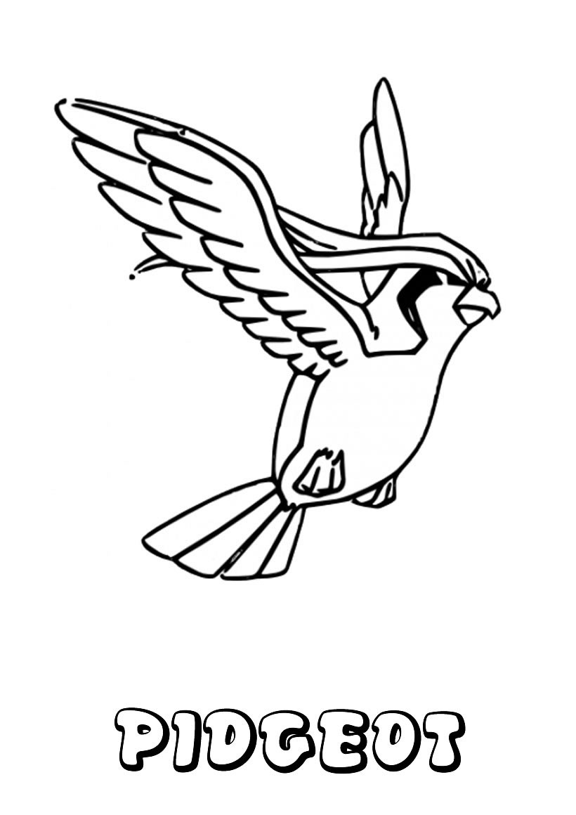 pidgeot pokemon coloring pages - photo#7