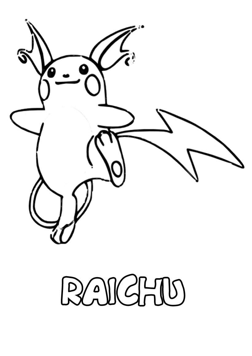 Pokemon Raichu Drawing Dibujo Para Colorear Raichu