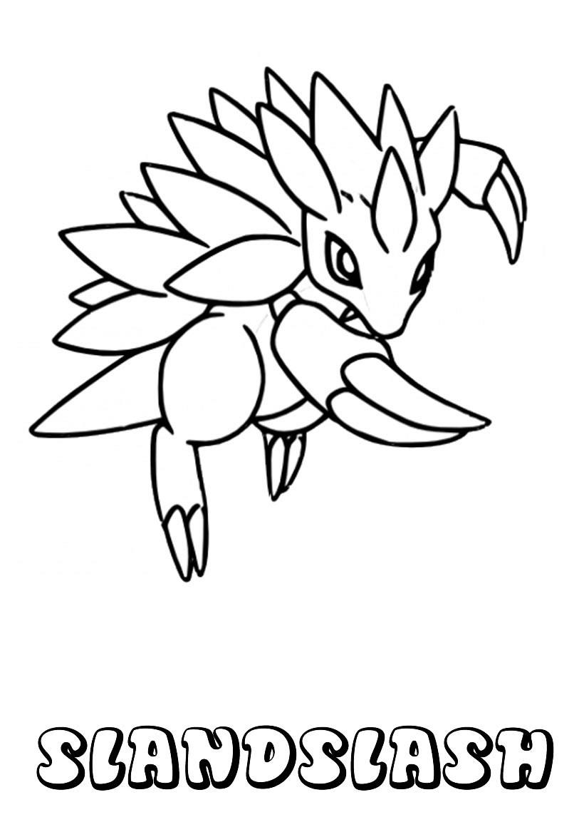 Dibujos para colorear pokemon sandslash for Imagenes de cuadros abstractos para colorear