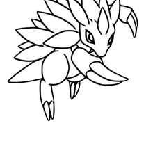 Dibujo Pokemon Sandslash - Dibujos para Colorear y Pintar - Dibujos para colorear MANGA - Dibujos para colorear POKEMON - Dibujos para colorear POKEMON TIERRA