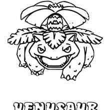 Dibujo Venusaur - Dibujos para Colorear y Pintar - Dibujos para colorear MANGA - Dibujos para colorear POKEMON - Dibujos para colorear POKEMON PLANTA