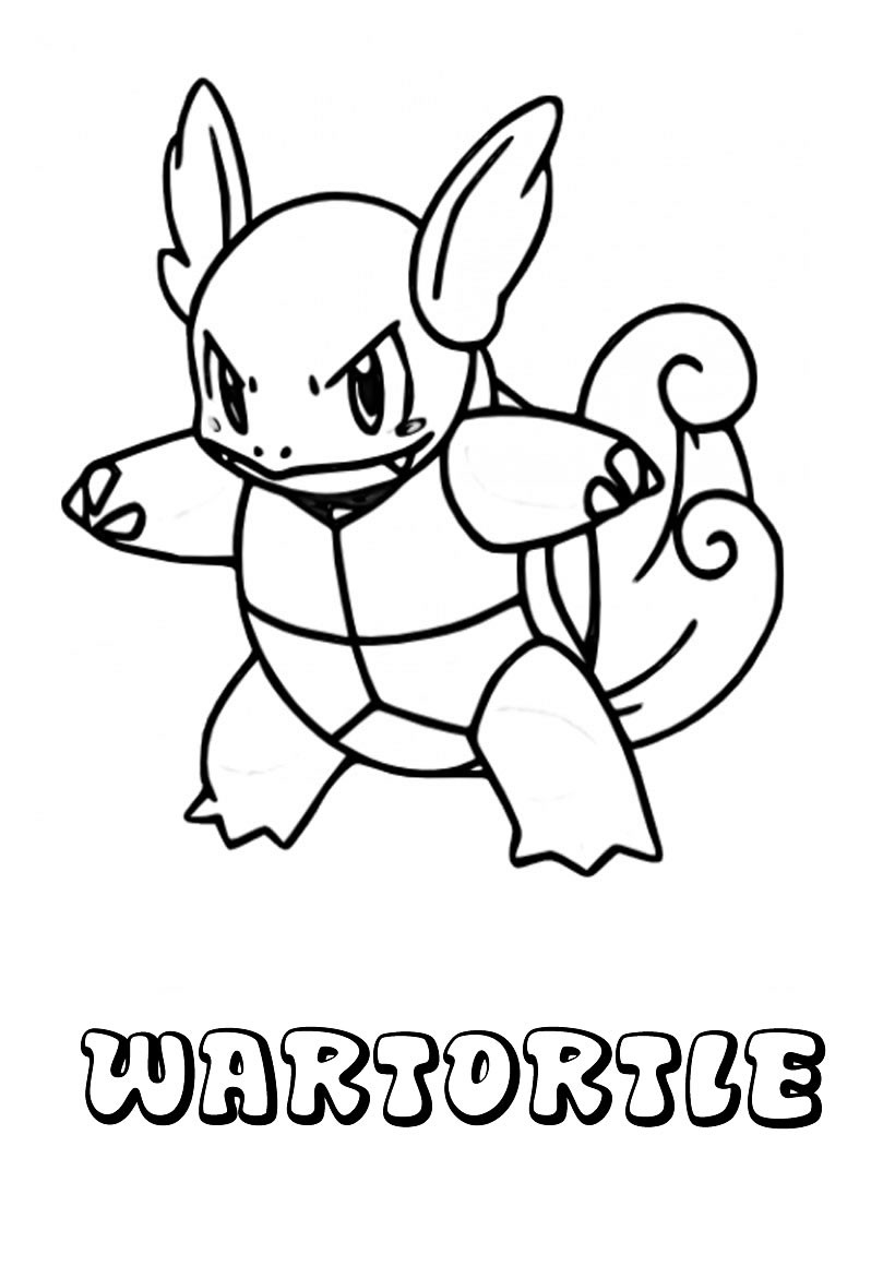 Dibujos para colorear wartortle - es.hellokids.com