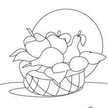 Dibujo del frutero - Dibujos para Colorear y Pintar - LA NATURALEZA: dibujos para colorear - Dibujos de FRUTAS Y VERDURAS para colorear