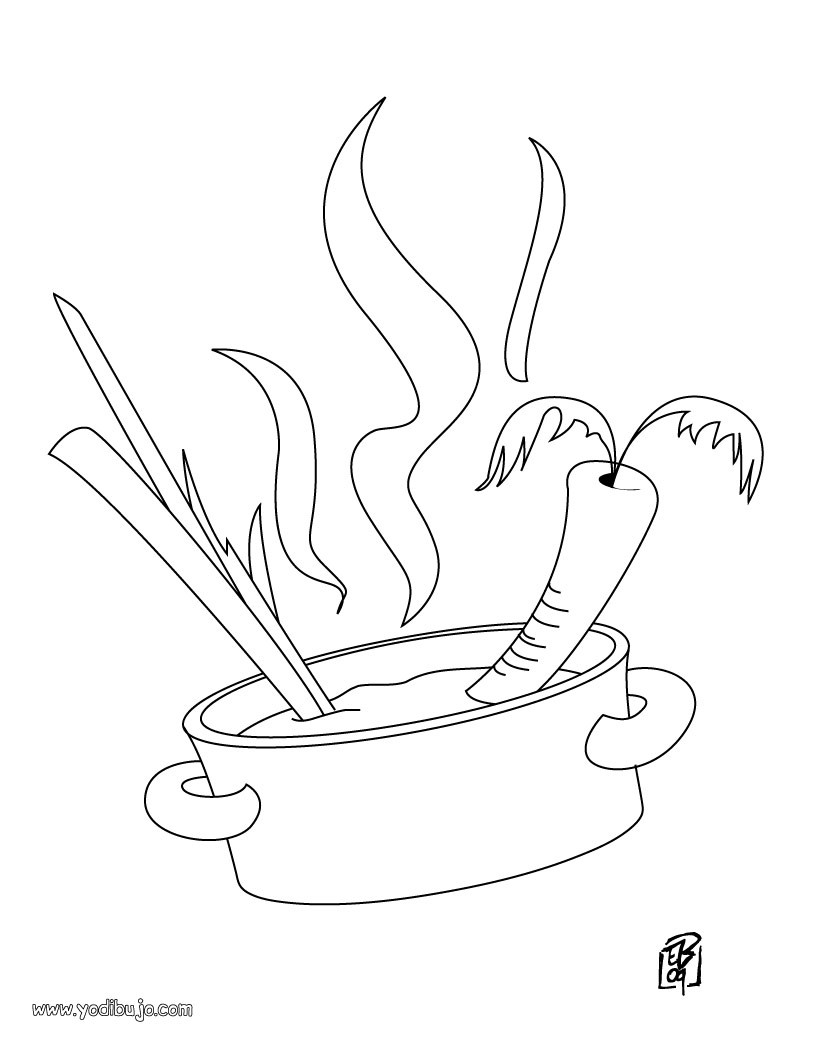 Dibujos Para Colorear Qué Rica Sopa De Verduras Eshellokidscom