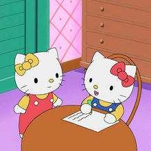 Imagen : Dibujo Hello Kitty dibujando