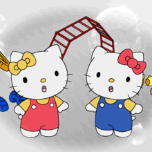 Dibujo Hello Kitty sorprendida