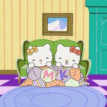 Dibujo Hello Kitty en el salón