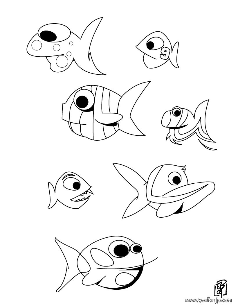 Dibujos para colorear peces rayados  eshellokidscom