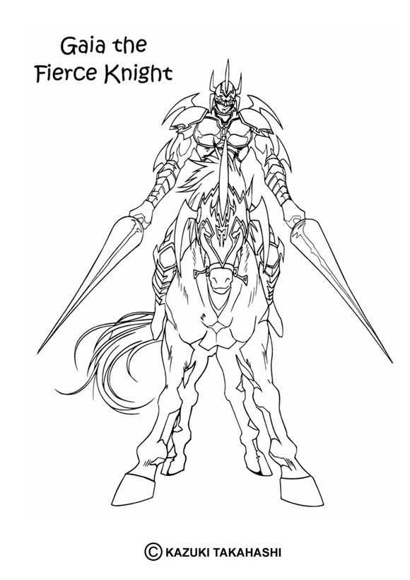 Dibujo para colorear : gaia fierce knight