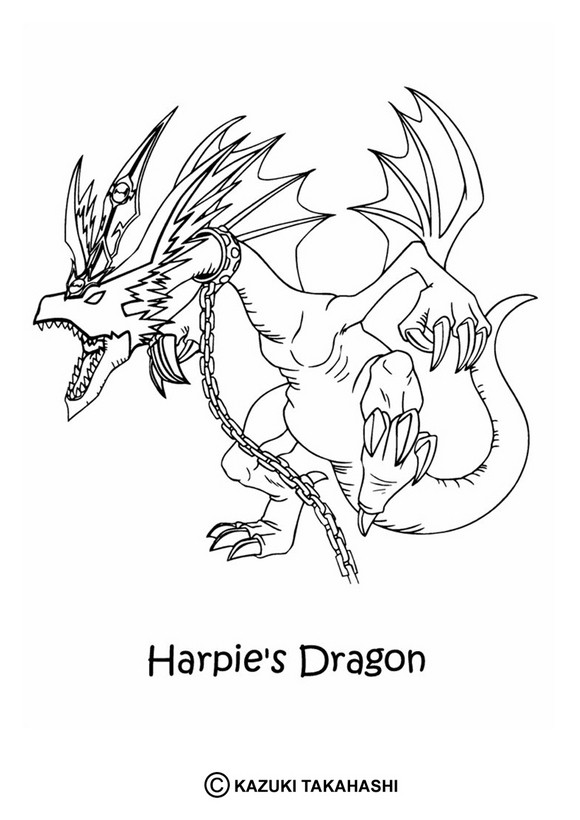 Dibujos Para Colorear Harpies Drago Eshellokidscom