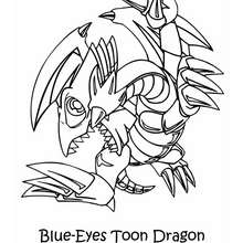 Dibujo dragon blue eyes toon dragon - Dibujos para Colorear y Pintar - Dibujos para colorear MANGA - Dibujos para colorear de YU GI OH - Dibujos para colorear DRAGON YU GI OH
