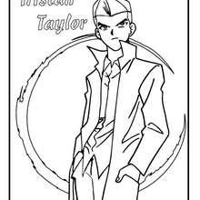 Dibujo personaje tristan taylor - Dibujos para Colorear y Pintar - Dibujos para colorear MANGA - Dibujos para colorear de YU GI OH - Dibujos para colorear PERSONAJES YU GI OH