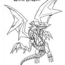 Dibujo para colorear : Blue Eyes white dragon