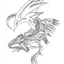 Dibujo blue eyes white dragon 3 - Dibujos para Colorear y Pintar - Dibujos para colorear MANGA - Dibujos para colorear de YU GI OH - Dibujos para colorear DRAGON YU GI OH