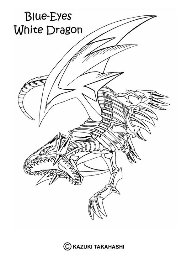 dibujos para colorear blue eyes white dragon 3  es