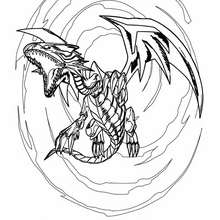 Dibujo para colorear : blue eyes white dragon 4