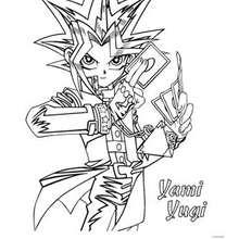 Dibujo Yami Yugi - Dibujos para Colorear y Pintar - Dibujos para colorear MANGA - Dibujos para colorear de YU GI OH - Dibujos para colorear PERSONAJES YU GI OH