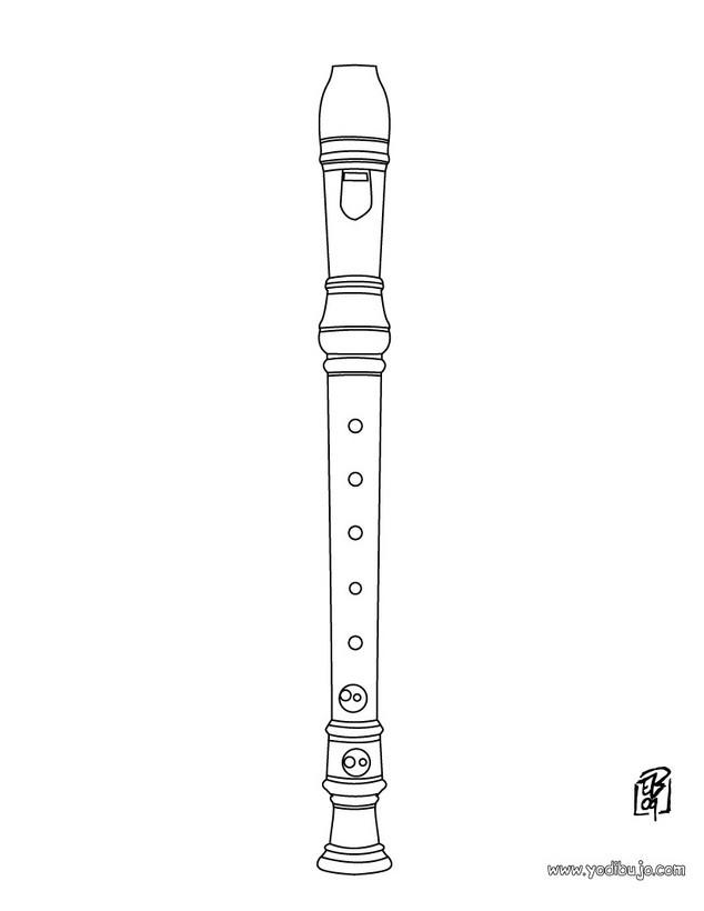 Dibujo para colorear : flauta