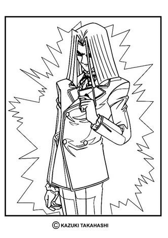Dibujo para colorear : personaje Yu Gi Oh 1