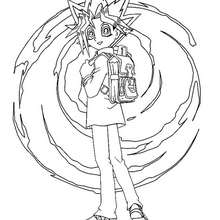 Dibujo personaje Yu Gi Oh 2 - Dibujos para Colorear y Pintar - Dibujos para colorear MANGA - Dibujos para colorear de YU GI OH - Dibujos para colorear PERSONAJES YU GI OH