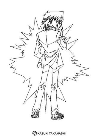 Dibujo para colorear : personaje Yu Gi Oh 4