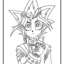 Dibujo personaje Yu Gi Oh 3 - Dibujos para Colorear y Pintar - Dibujos para colorear MANGA - Dibujos para colorear de YU GI OH - Dibujos para colorear PERSONAJES YU GI OH